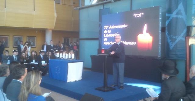 Acto de recuerdo del Holocausto (Asamblea de Madrid, 23/1/2015)