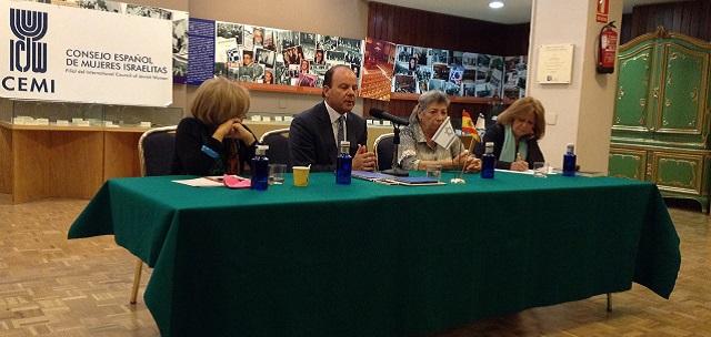 """Seminario """"Hijas de la Shoá"""", con Alicia Kaufman, Rajel Rhoda Abecasis, Eva Leitman Bohrer, Verónica Nehama y Enrique Lerner (CEMI, Madrid, 14/4/2015)"""