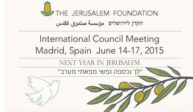 La Fundación Jerusalén en España, con su presidente honorario León Benelbas