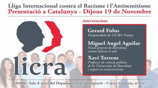 LICRA Catalunya: contra el racismo y el antisemitismo, con Isaac Levy