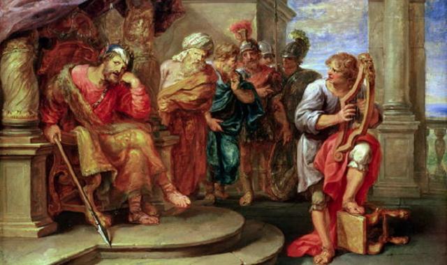 Salmo 54: canto de David al ser salvado de la mano de Saúl, con la ayuda de Dios
