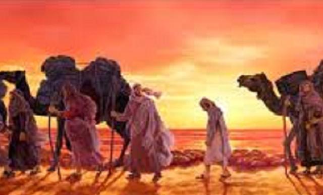 Con la caravana hacia Egipto