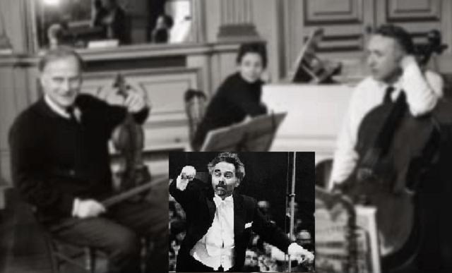 Poker de ases en el Concierto triple de Beethoven:  Yehudi y Hephzibah Menuhin, y Maurice Gedron, dirigidos por Istvan Kertesz
