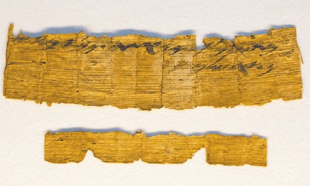 Papirus teudát mishlóaj ben 2700 shaná, shenijtáv bo beivrít Yerushaláyim, nimtzá bemearót midbár Yehudá