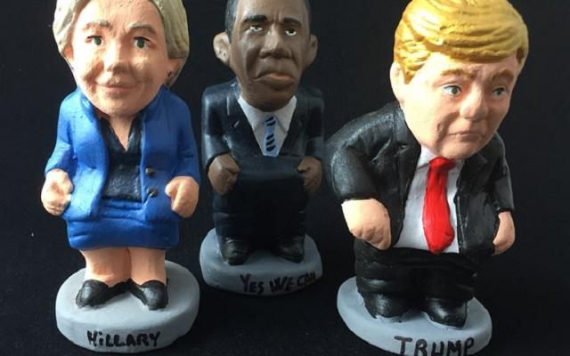 Hillary y Donald…con los pantalones bajados