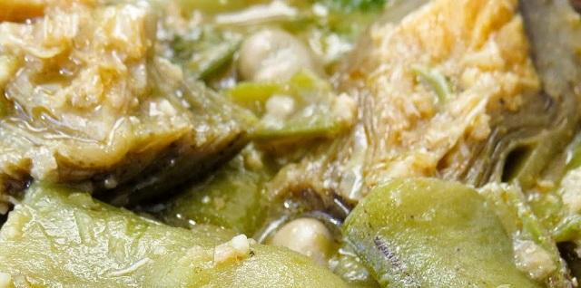 Tres eran tres las recetas con alcachofas y habas tiernas
