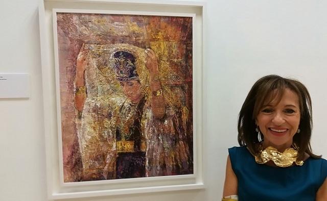 """En la inauguración de """"Judaica. Pinturas de Bettina Caro"""""""