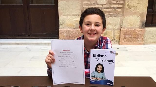 Javier Pérez Tubio, el ganador del concurso de microrrelatos Ana Frank