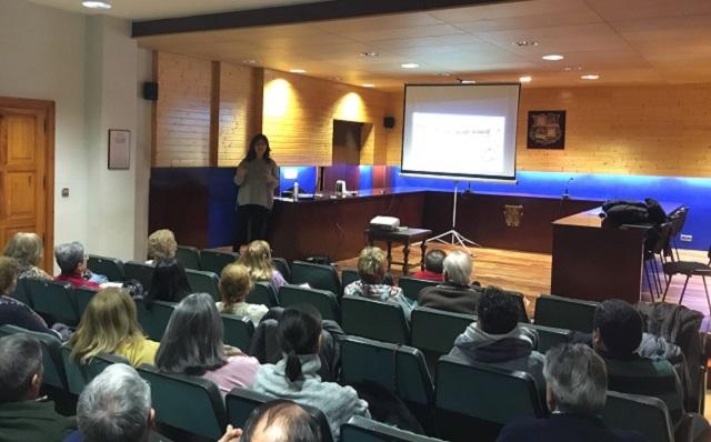 Con los alumnos de la Universidad de la Experiencia, en Medina de Rioseco