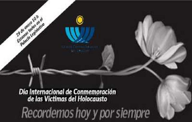 Políticos uruguayos en Memoria de la Shoá, con Rafael Winter