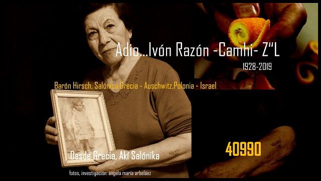 In Memoriam de Ivón Razon Сamhi Z''L (1928-2019), sobreviviente de la Shoá