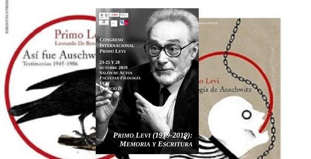 """""""Congreso Internacional Primo Levi (1919-2019). Memoria y escritura, con Javier Vallarina"""