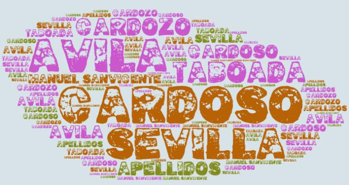 El origen de los apellidos Cardoso o Cardozo, Sevilla, Taboada y Ávila