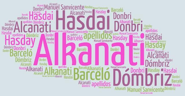 El origen de los apellidos Alkanati, Hasdai, Dómbriz y Barceló