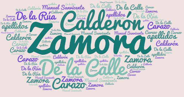 El origen de los apellidos Carazo, Zamora, Calderón y De la Rúa o De la Calle