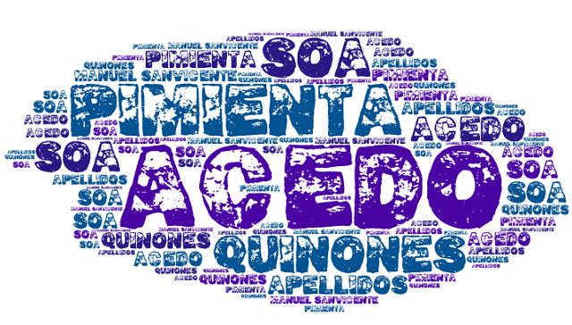 El origen de los apellidos Acedo, Pimienta, Quiñones y Soa