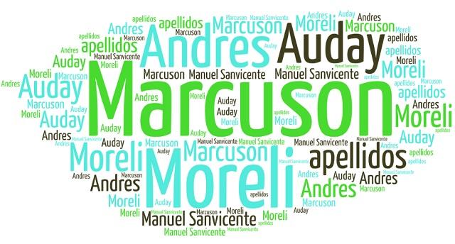 El origen de los apellidos Marcuson, Moreli, Andrés y Auday