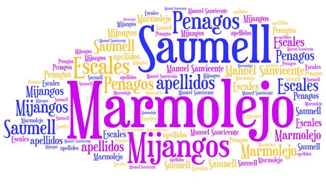 El origen de los apellidos Marmolejo, Saumell, Mijangos, Penagos y Escales