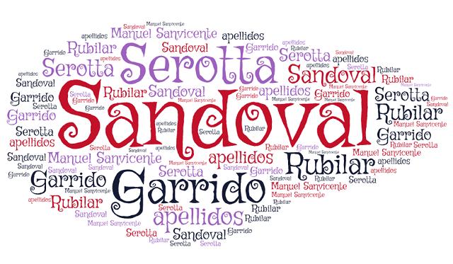 El origen de los apellidos Serotta, Rubilar, Sandoval y Garrido