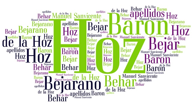 El origen de los apellidos Hoz (de la Hoz), Barón, Behar (Bejar) y Bejarano
