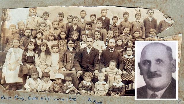 Jedidio Efron, pionero de la educación judía en Argentina, con Gustavo Efron