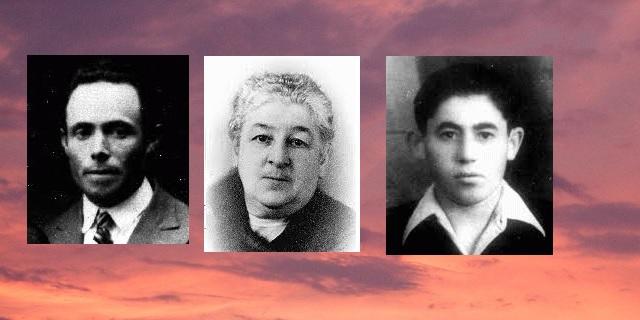 En nuestra memoria: Welwel Rzondzinski, Rosalia Wourgaft Schatz y Chaim Frenkiel