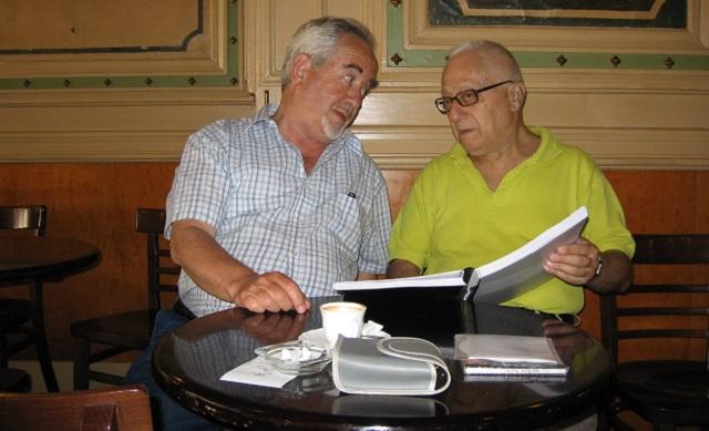 Mi amigo Osias Wilenski Z'L, con Jacobo Kaufmann