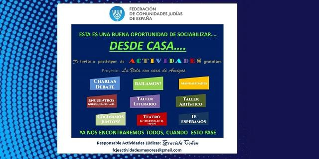 Actividades para mayores de la FCJE,  con Sara Chocrón y Graciela Cohen