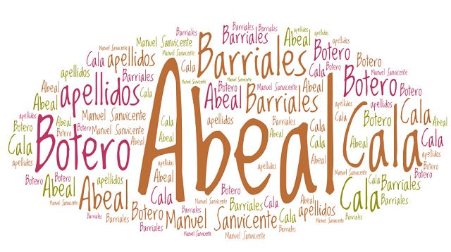 El origen de los apellidos Abeal, Barriales, Botero y Cala