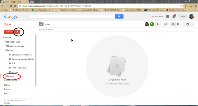 host website guna google drive