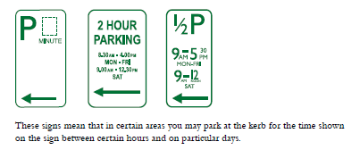 parking sign hourly