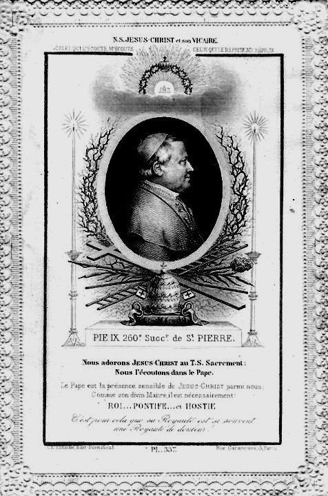 Il Santissimo Sacramento e la devozione a Pio IX (seconda e ultima parte)