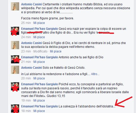 E' l'ex tesoriere dei giovani ebrei italiani che ci attacca con blasfemie anti-cristiane?