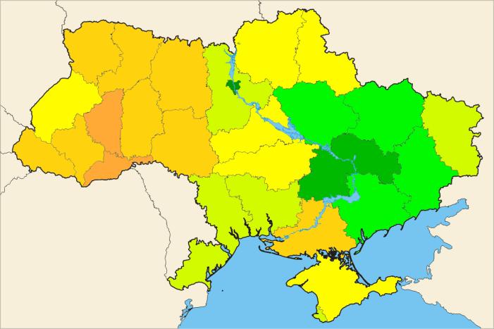 """[IMMAGINI] Tre mappe (su cultura ed economia) per capire la """"crisi ucraina"""""""