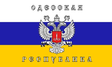 """[IMMAGINI] Le bandiere e i simboli del """"separatismo"""" in Ucraina"""