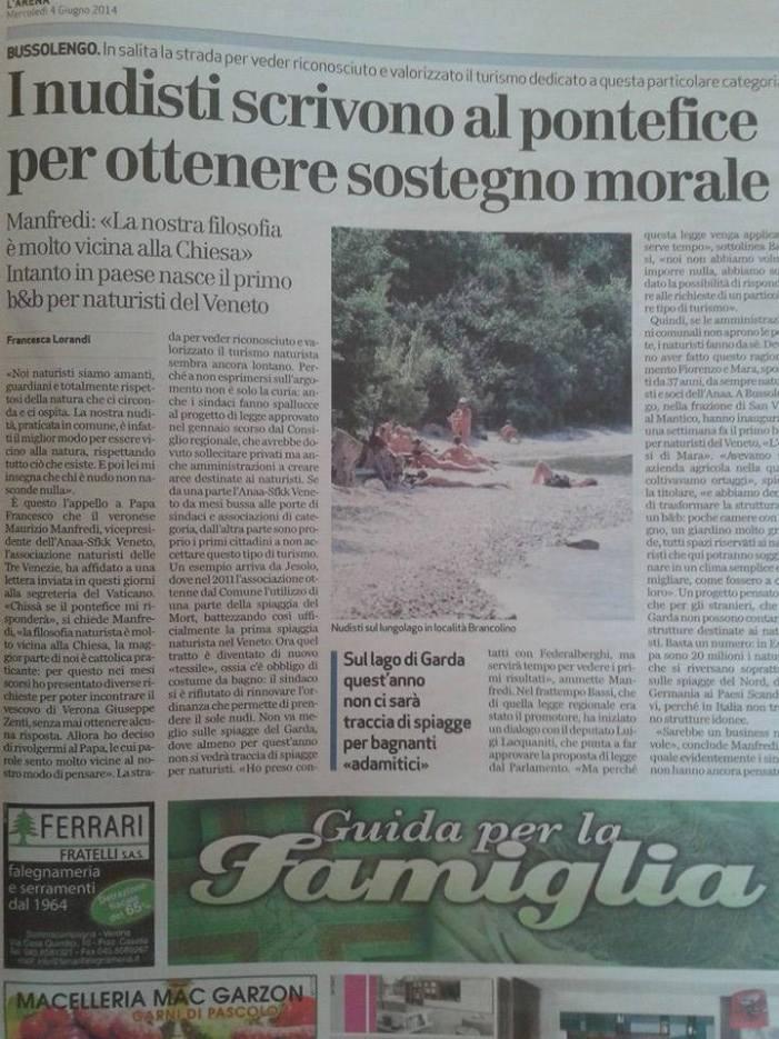 Bergoglio non condanna neanche i nudisti?