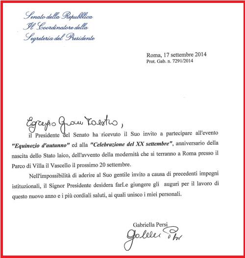 Napolitano, Grasso, Boldrini: tutti inviano auguri alla massoneria per il XX Settembre!