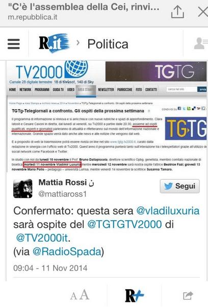 Radio Spada torna su Repubblica, per aver favorito la 'fuga' di Luxuria