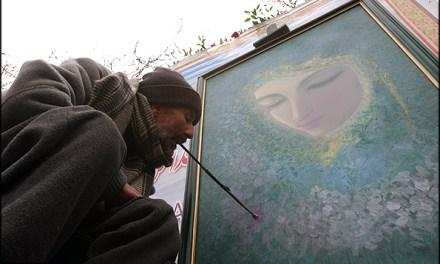 Un veterano iraniano e il volto della Beata Vergine