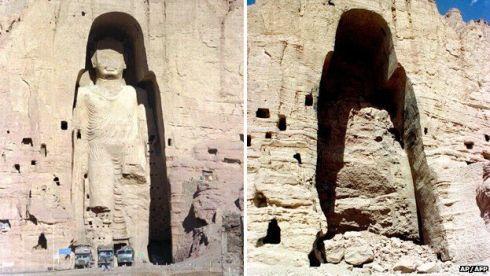 I buddha di Bamiyan, prima e dopo.