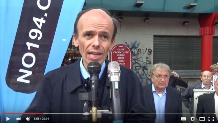 [VIDEO] L'Avv. Guerini parla di aborto e difesa dei valori cattolici. Milano, 10 ottobre 2015, corteo #no194