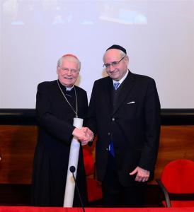El cardenal Angelo Scola y el rabino Giuseppe Laras