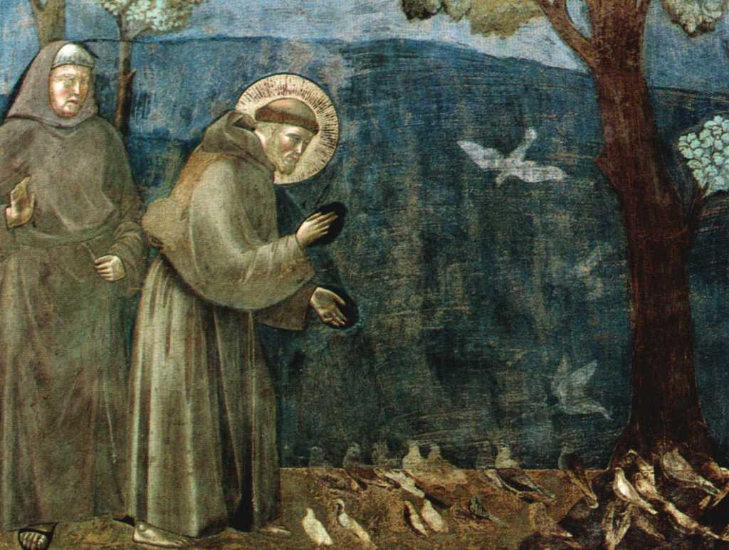 Assisi Francis Fresco sermon to the birds