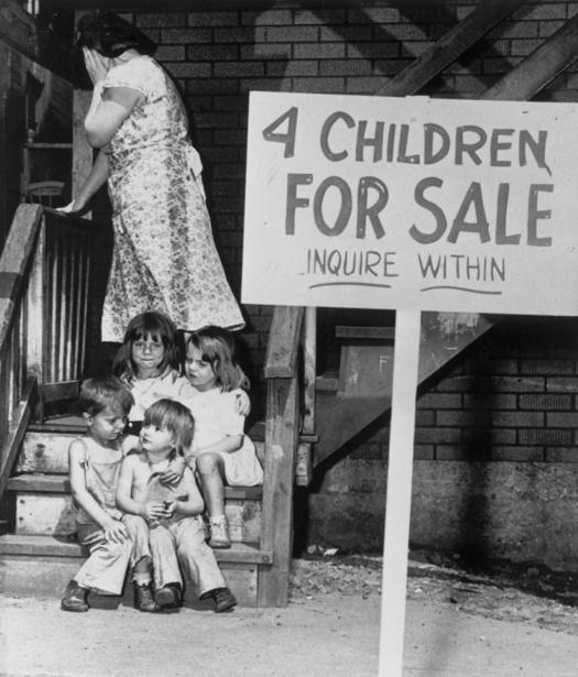children for sale bambini venduti