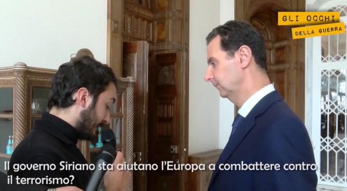 """Assad: """"L'Europa aiuta i terroristi"""""""
