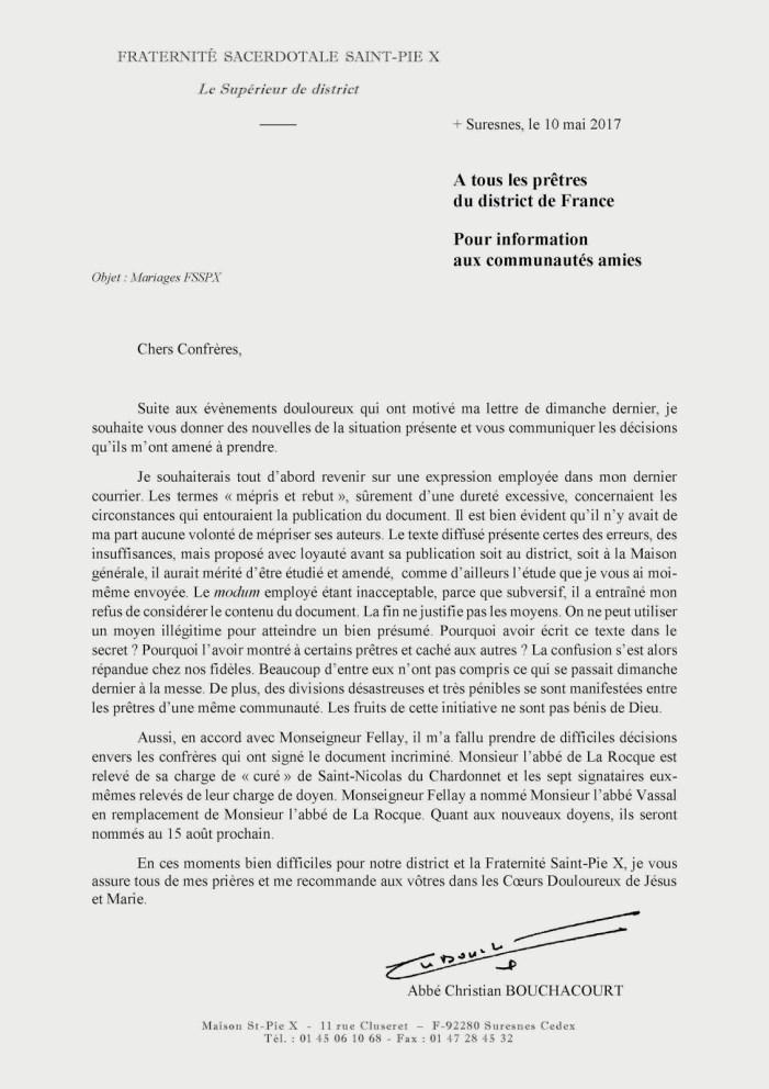 Decapitazioni nella FSSPX francese: rimossi i 7 superiori francesi contrari all'accordo sui matrimoni
