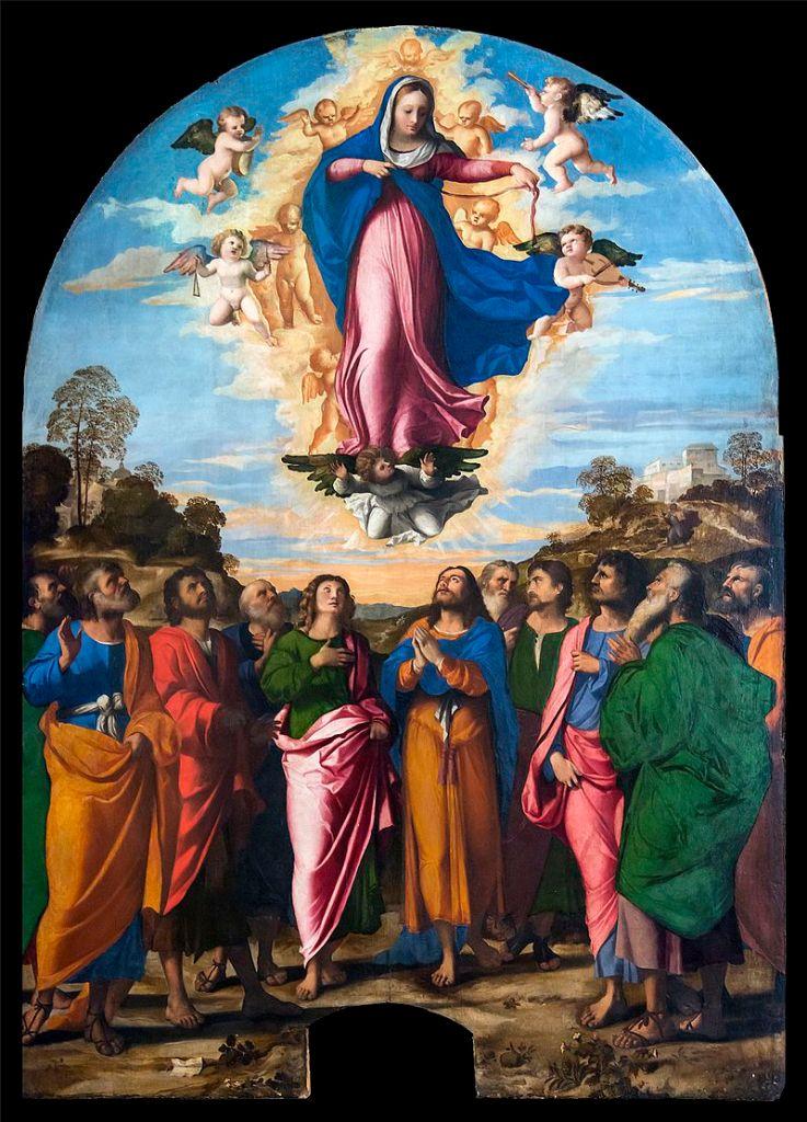 """""""L'Assunzione della Vergine"""" di Palma il Vecchio, galleria dell'Accademia a Venezia"""