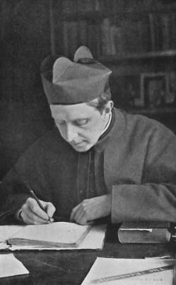 R. H. Benson al lavoro nel suo studio (1910)