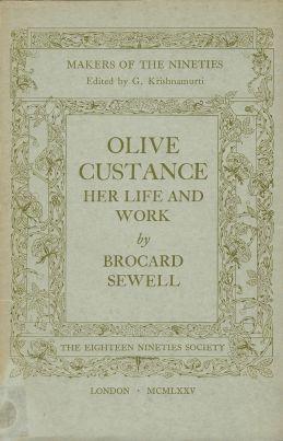 La breve monografia di padre Brocard Sewell dedicata a Olive Custance