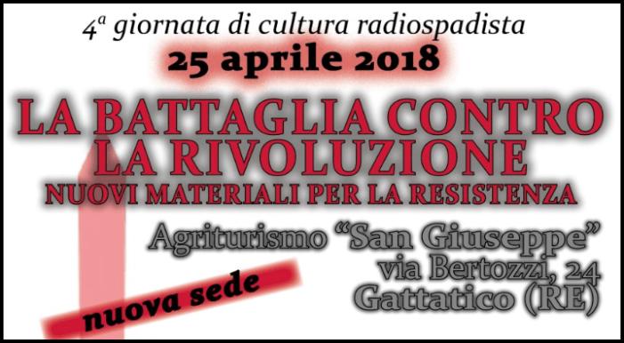 25 aprile radiospadista 2018 (nuova sede): con Gaeta, Viglione, Gnocchi, Gulisano, Fumagalli, Seveso, Copertino, Ferrari, Pisa
